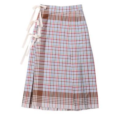 beautiful people キッチンクロスポプリンプリーツスカート
