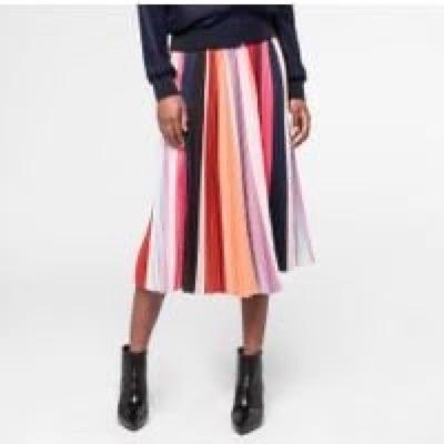 Paul Smith  'sunray-stripe' Pleated Skirt