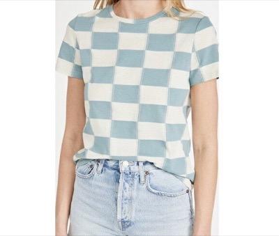 Tory Burch チェッカーボード Tシャツ