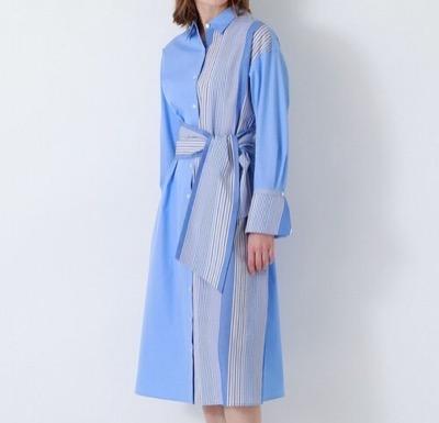 LOVELESS サックスストライプ ロングシャツ ドレス