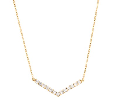 TSUTSUMI K18イエローゴールドダイヤモンドネックレス