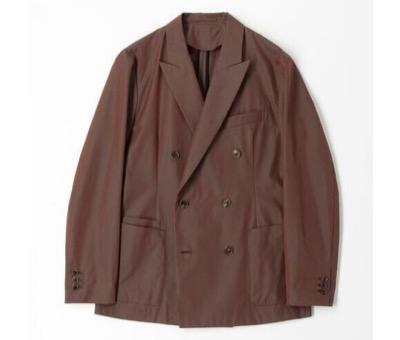 CABaN コットンシャンブレー ダブルブレストジャケット
