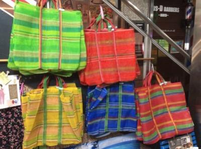 ベトナム雑貨 ナイロンメッシュバッグ