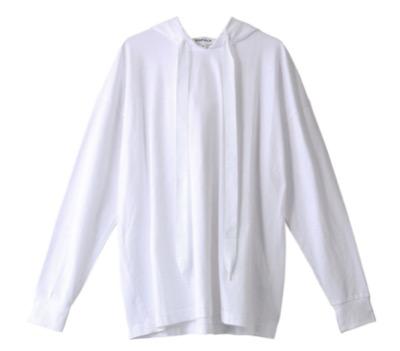 ENFOLD クラシック天竺 フードロングTシャツ
