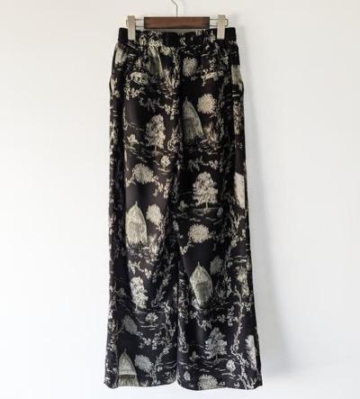 LEINWANDE Landscape Print Trousers