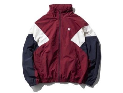 Russell Athletic フードトラックジャケット