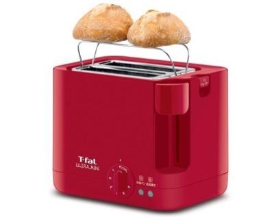 T-fal(ティファール) トースター ウルトラミニ ポップアップ バンウォーマー付き ソリッドレッド