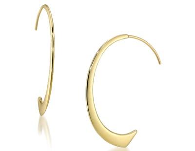STAR JEWELRY K10 ピアス GOLD HOOP PIERCED EARRINGS