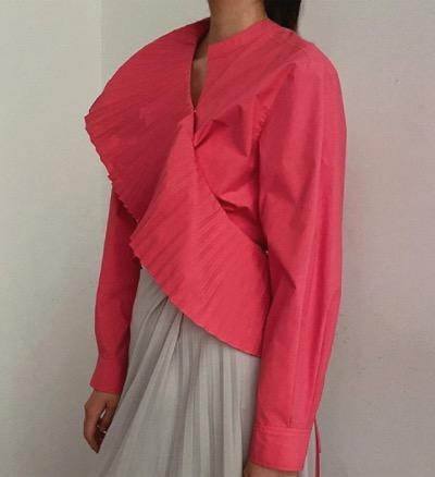 IRENE Pleated Sash Shirt SS21