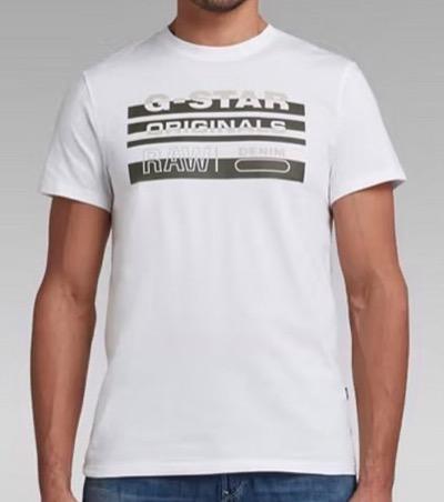 G-Star RAW Originals Stripe Logo T-Shirt