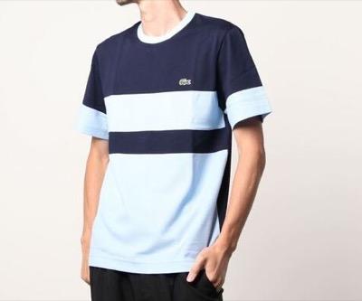LACOSTE カラーブロックコットンピケTシャツ