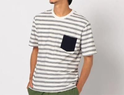 GLOSTER プレーティングボーダーTシャツ