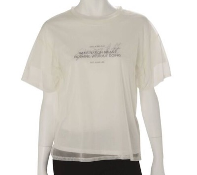 MERCURYDUO シアーレイヤードグラフィックTシャツ