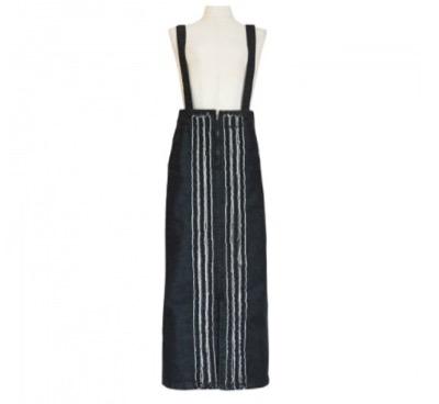 BayBee center fringe denim skirt