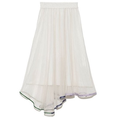 FURFUR ヘムトリミングプリーツスカート