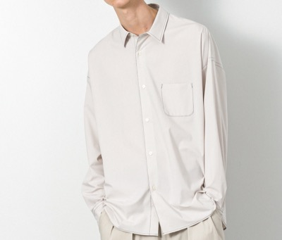SLICK タイプライタードロップショルダーステッチワークシャツ