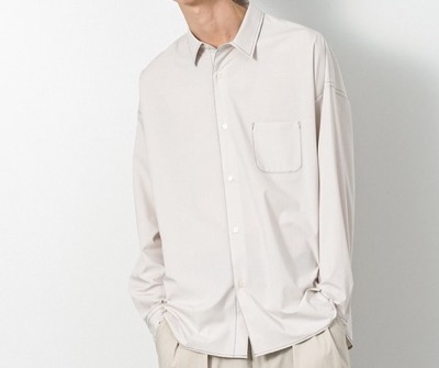 SLICK T/Rタイプライタードロップショルダーステッチワークシャツ