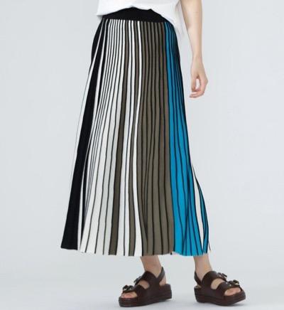 CAST:(キャストコロン) ストライプニットスカート