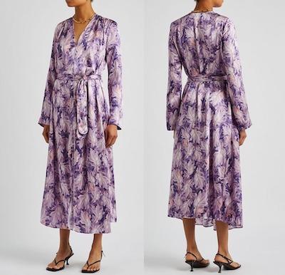Forte Forte Purple リーフプリント ラップドレス
