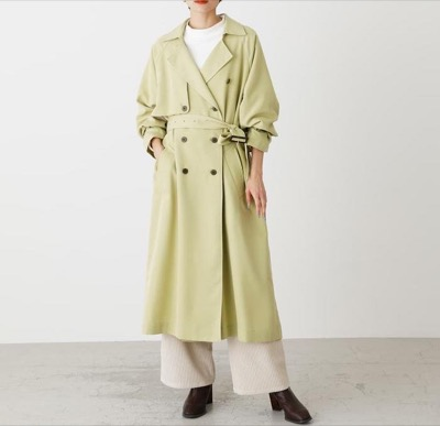 AZUL BY MOUSSY SINGLE FLAP TRENCH COAT