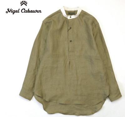 NIGEL CABOURN(ナイジェルケーボン) BRITISH ARMY MIX PULL OVER SHIRT長袖シャツ