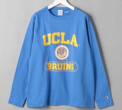 Champion UCLA USA LS TEE/カットソー