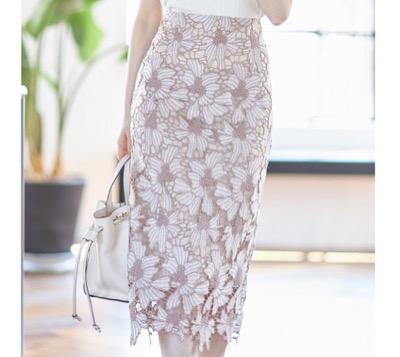 tocco closet フラワーレースタイトスカート