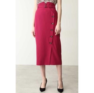 PINKY & DIANNE(ピンキーアンドダイアン) サイドボタンミモレ丈スカート