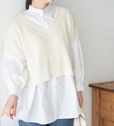 ROPE' PICNIC ベスト付レイヤードシャツ