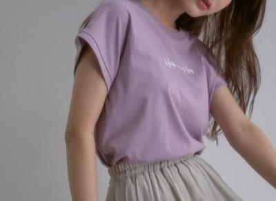 ViS フレンチスリーブロゴTシャツ